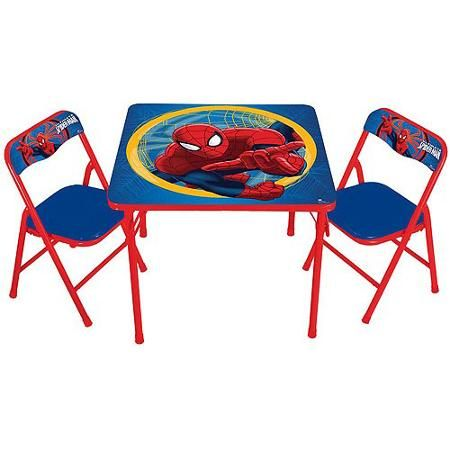 walmart tables and chairs childrens chair sets marvel spider man activity table set com for