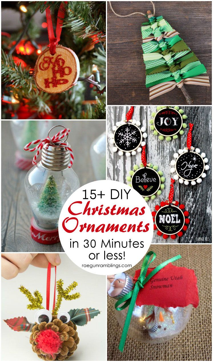 15+ DIY Christmas Ornament Tutorials Easy christmas