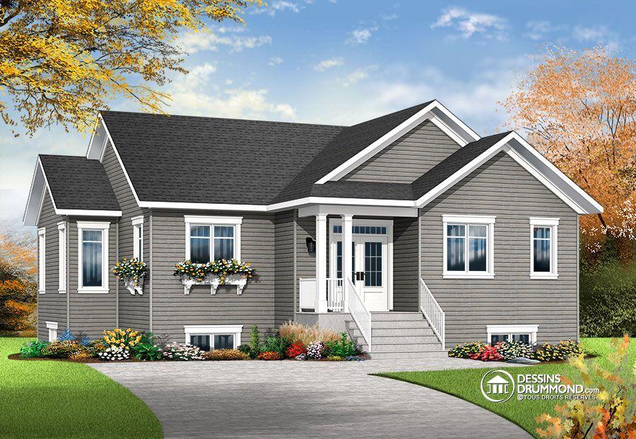 Détail du plan de Maison unifamiliale W3133-V4 Design Maison - modele plan maison plain pied gratuit