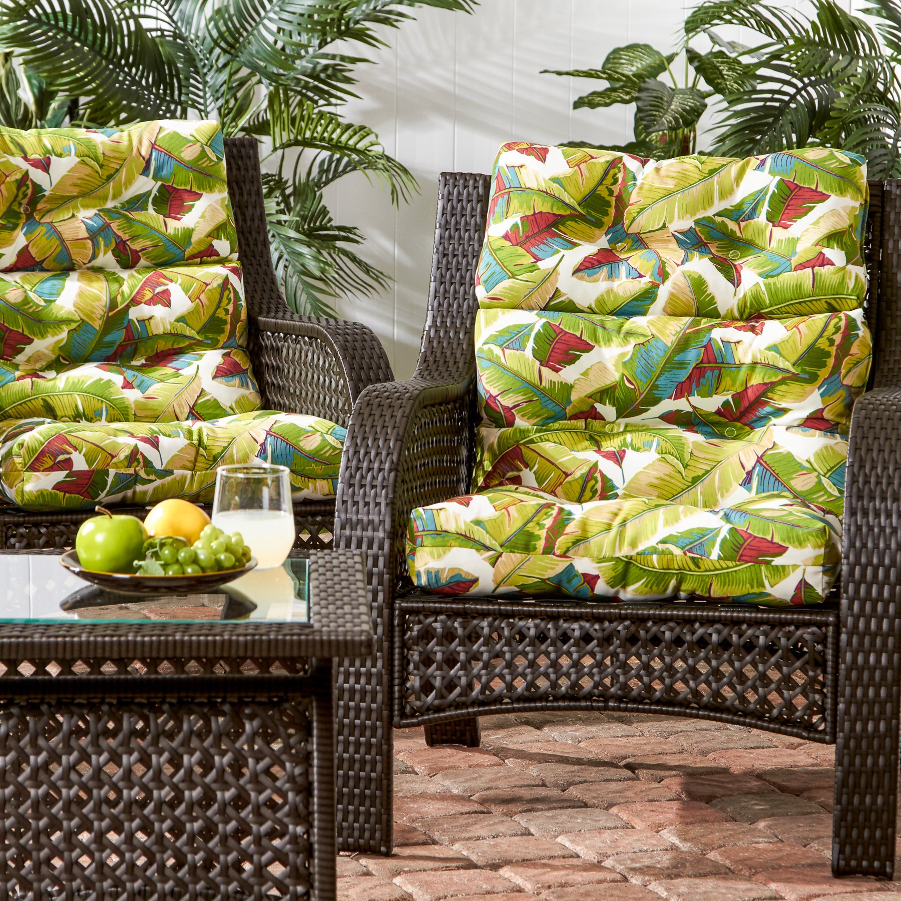 Havenside Home Diggs3 Section 22 Inch X 44 Inch Outdoor Palm