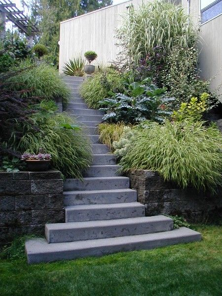 Lavishly Planted Steps On A Steep Slope In Linda And Roger