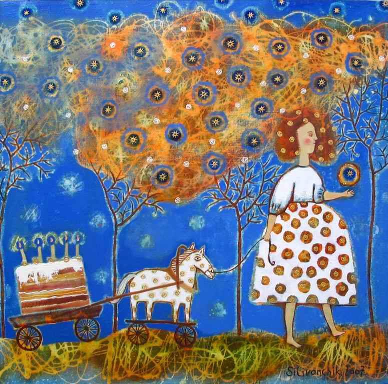 """Birthday"" 2006. 65х65cm. Oil on canvas"