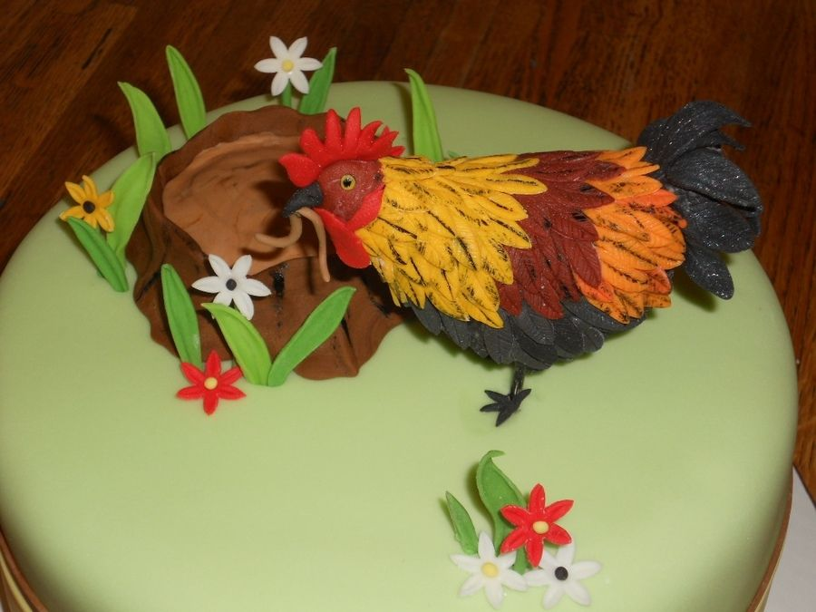 Rooster Bday Cake Rooster Birthday Grandmother Birthday