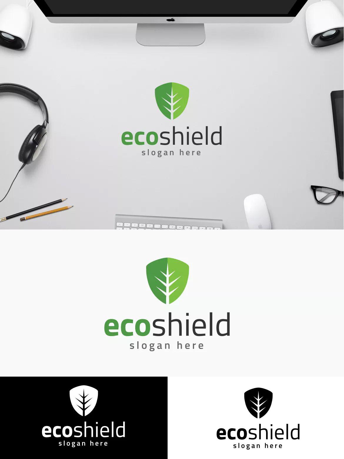 Eco Shield Logo Template AI, EPS   Logo Templates   Pinterest ...