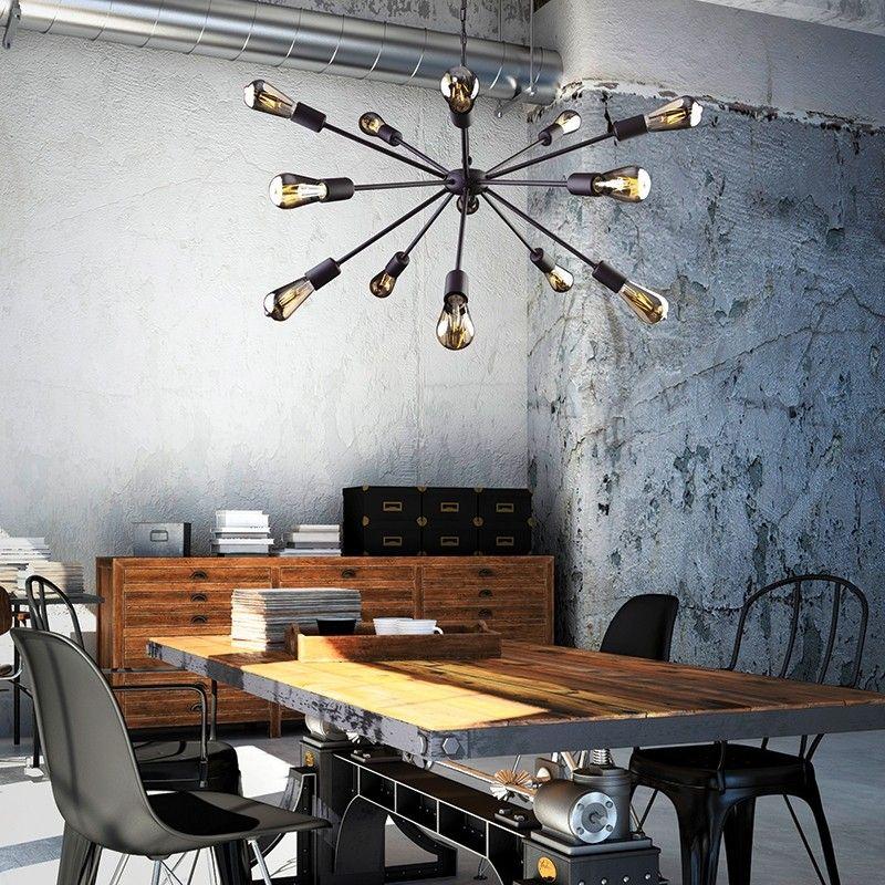 Edit rod 15 arm ceiling pendant light black lighting direct