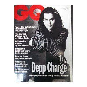 Signed Depp, Johnny GQ Magazine October Issue