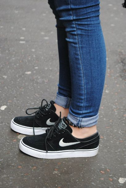 dadd04b8078c shoes nike black shoes black women s nike stefan janoski sneakers black and  white nike nike janoski s