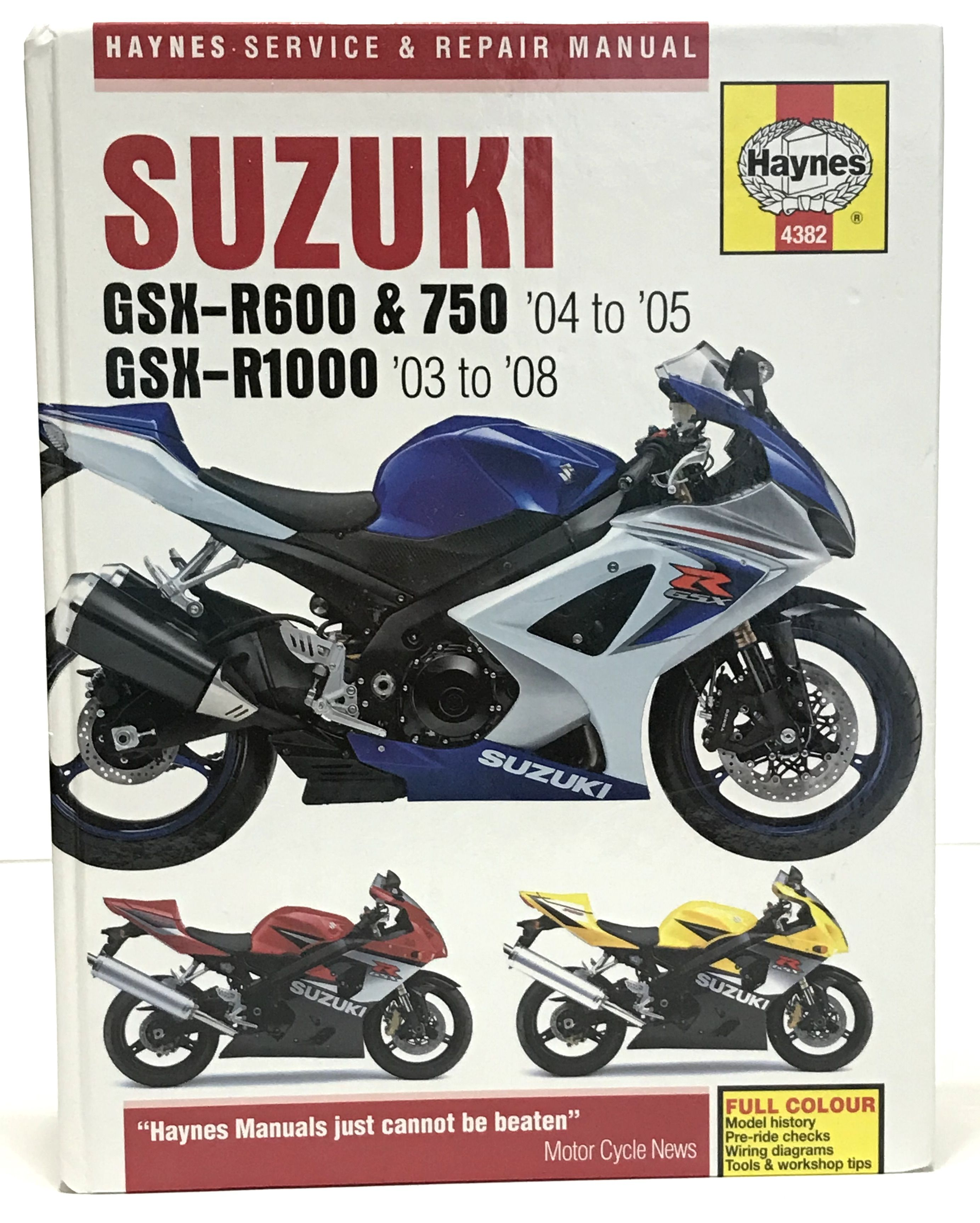 Haynes Workshop Manual Suzuki Gsx R 600 750 1000 2003 2008 Repair Motorcycle Suzuki Gsx Gsx Suzuki