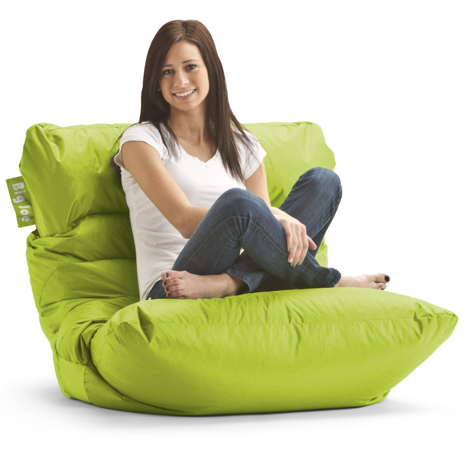 bean bag gaming chair leather kitchen chairs with casters amazon big joe roma spicy lime