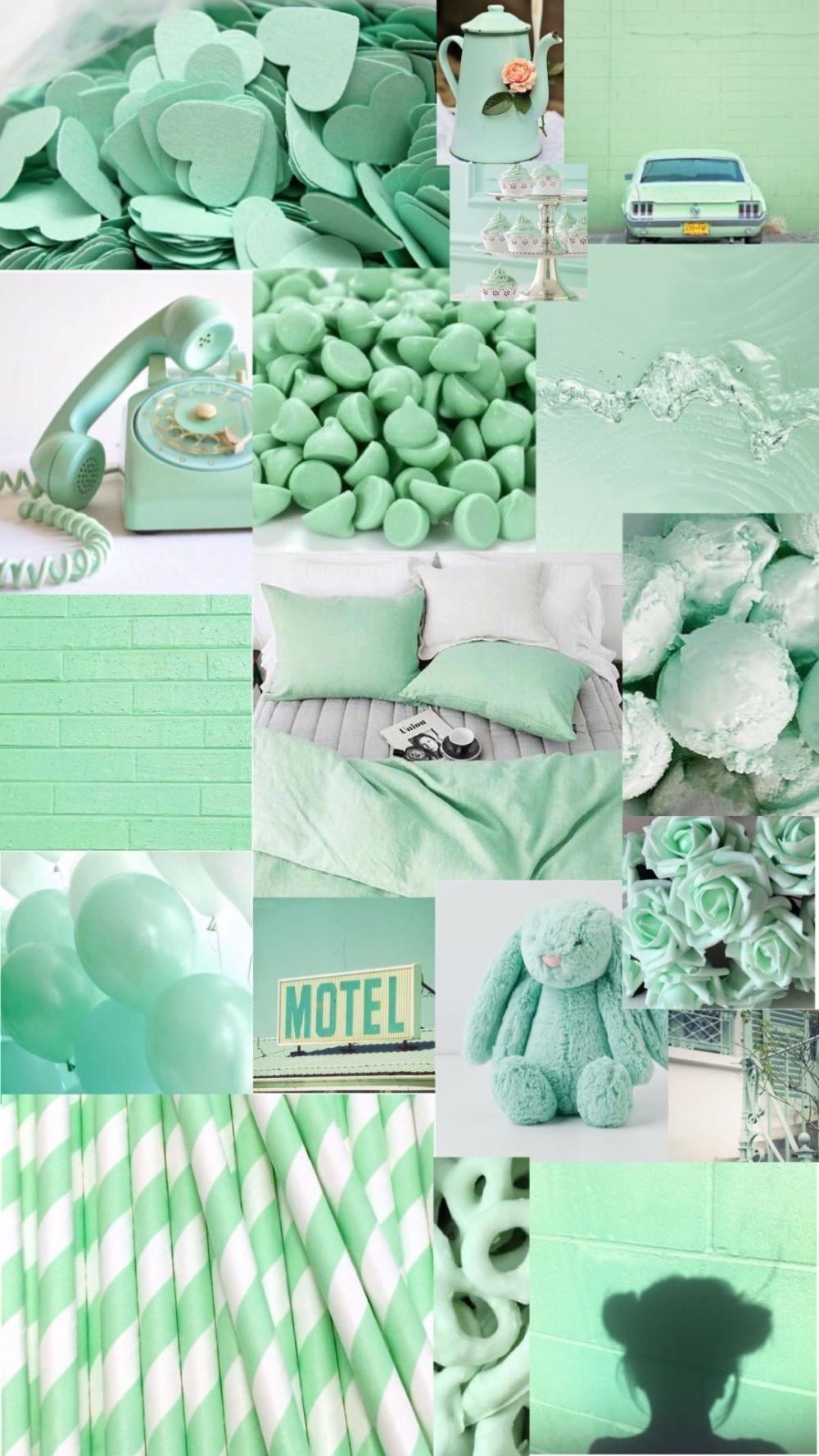 Aesthetic Mint Green Room
