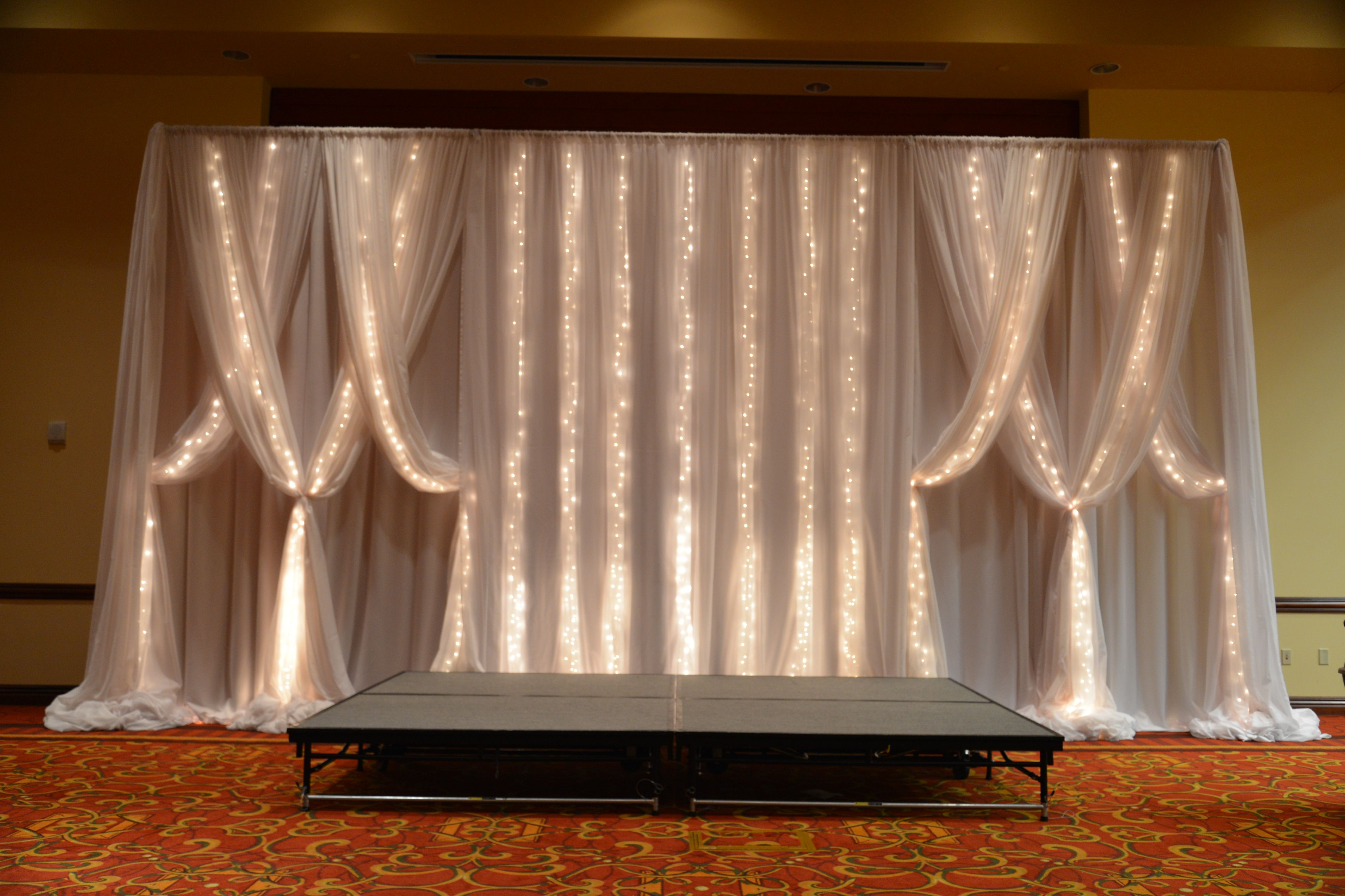 Lighted Backdrop Drapery By Www Eventsplusnashville Com With