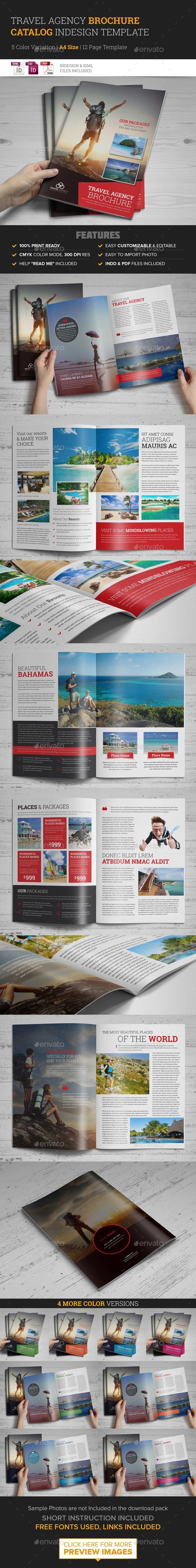 Travel Agency Brochure Catalog InDesign Template 2 | Diseño ...