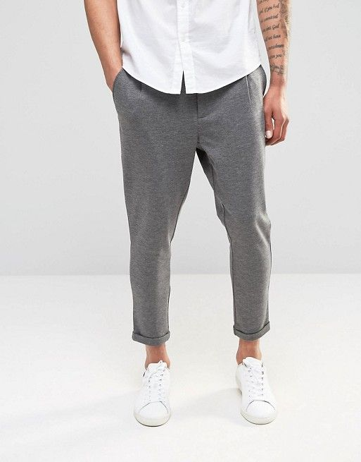 Only And Sons - Pantalon chino court en jersey at asos.com