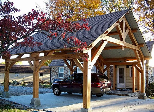 Timber Frame Pavilions Connect Your Home Life To The Natural World And Creates Yet Another Enjoyable Space Let S Carport Designs Timber Framing House Exterior