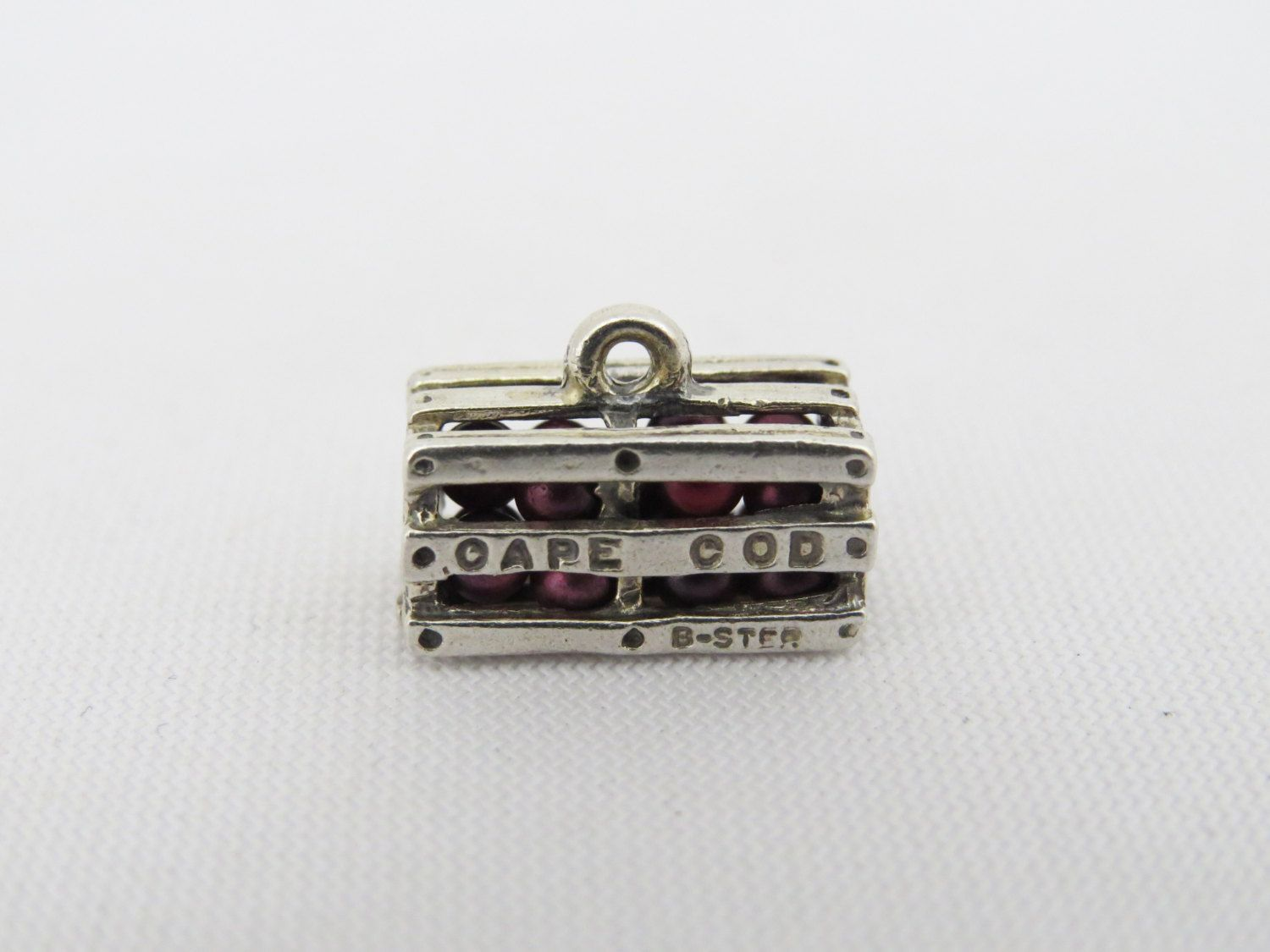 Vintage Beau Sterling Crate Of Cape Cod Cranberries Silver Bracelet Charm  Rare By Wandajewelry2013 On Etsy