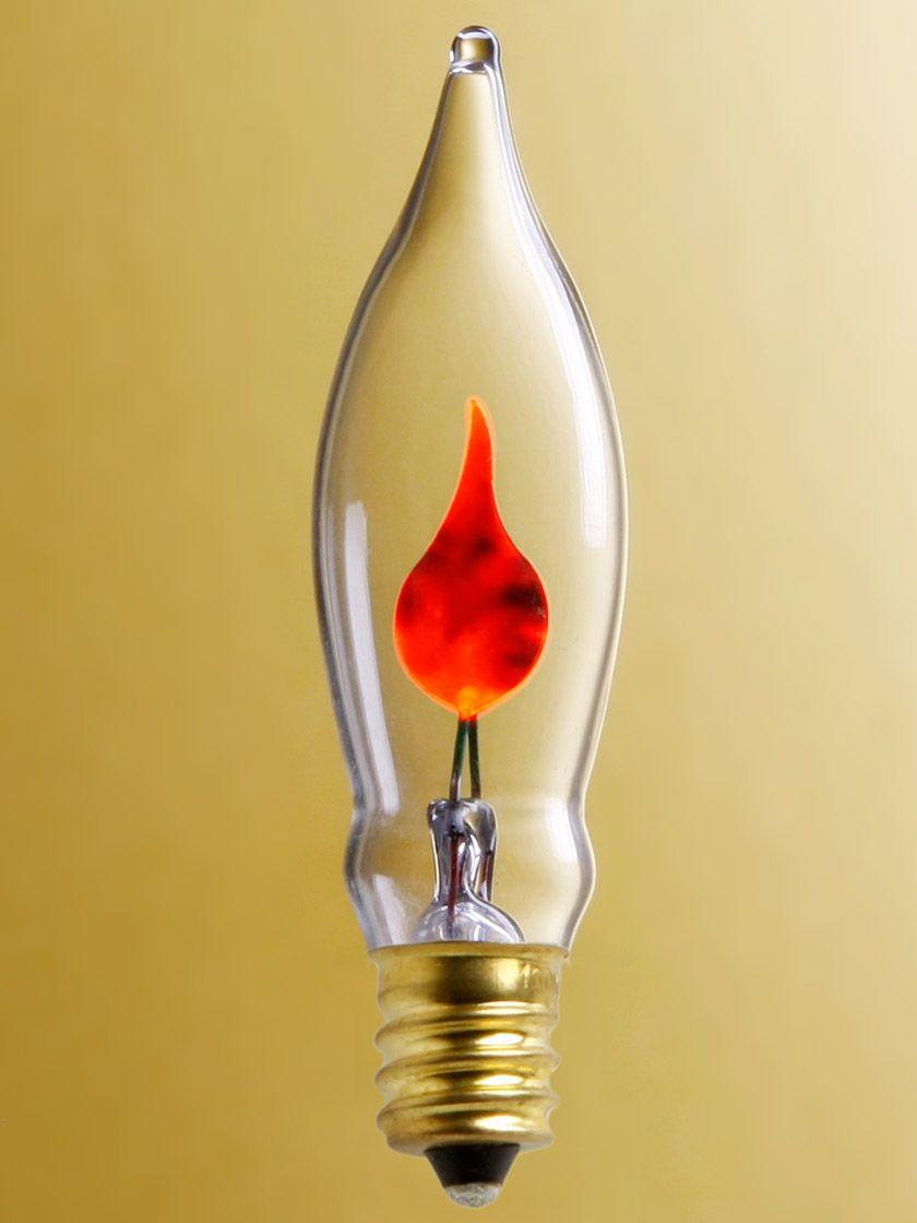 FLICKER FLAME ~ E26 STANDARD Base Light Bulb ~ 3 Watt ~ by PLD