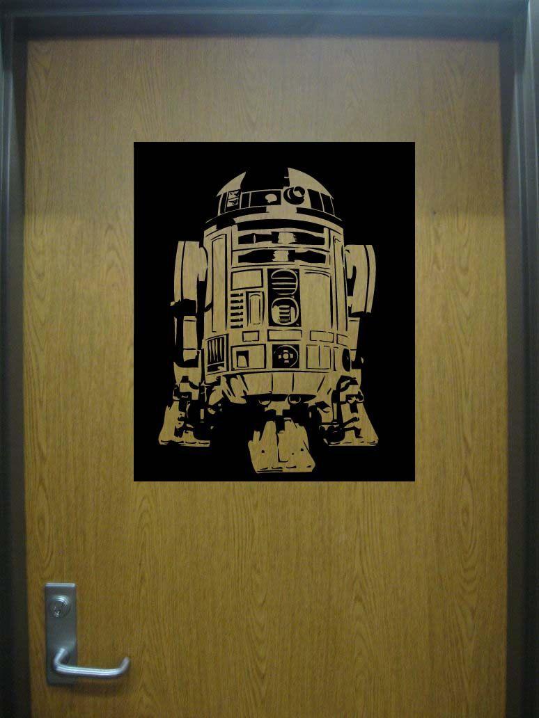 Large Star Wars R2D2 Vinyl Wall Sticker Decal. $19.99, via Etsy.