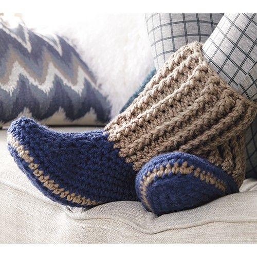 Mary Maxim - Free Slipper Socks Pattern - Free Patterns - Patterns ...