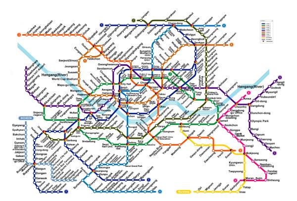 Korea Seoul Subway Map.Let S Travel Through Korea Seoul Subway Map Traveling Around