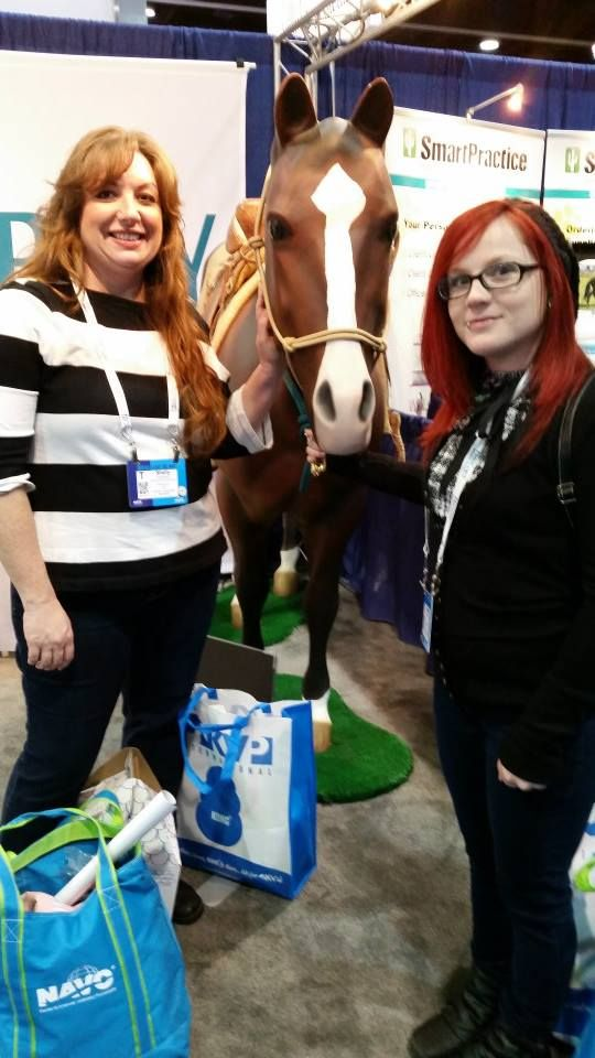Shelly and Meagan soaking up some knowledge at NAVC 2015
