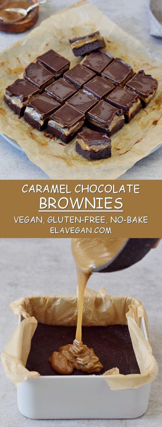 Caramel chocolate brownies (vegan, gluten-free) #brownies #caramel #chocolate #gluten #vegan #health...
