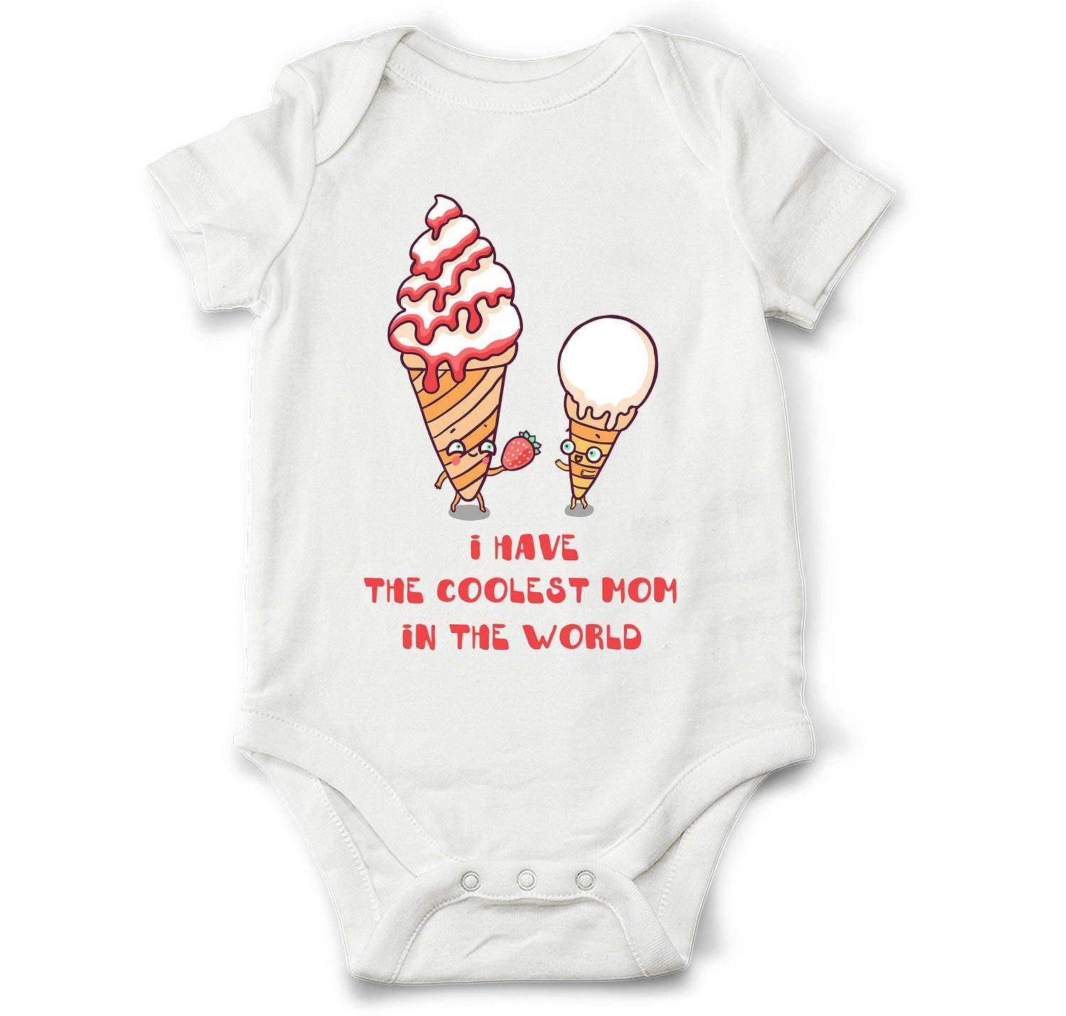 8bba312fe Unique the coolest mom onesie, ice-cream baby bodysuit, cute baby shower  gift, baby girl, baby boy by OldCauldronGifts on Etsy