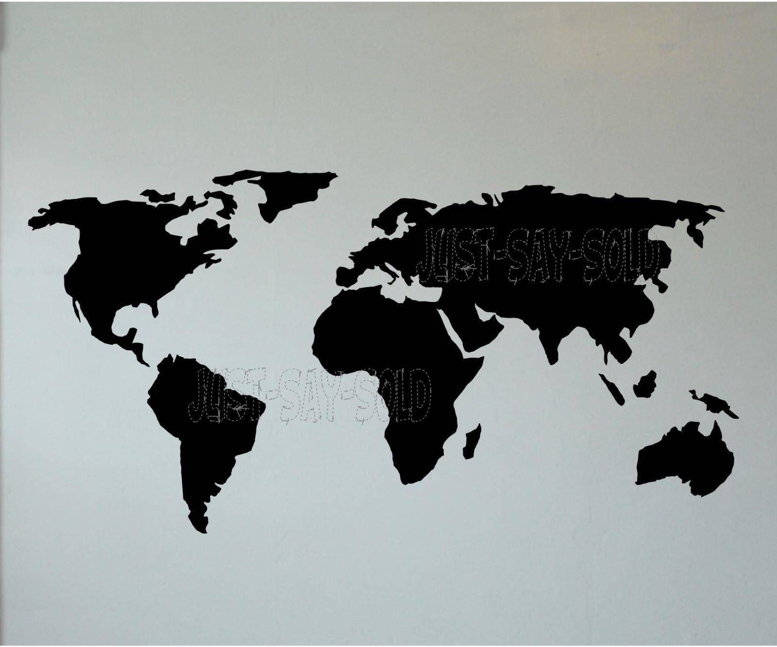 Cool world map graphic artwork decals for wall diy artwork cool world map graphic artwork decals for wall diy artwork choose shade detachable perm check more at gumiabroncs Image collections