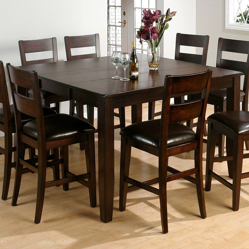 Tall Kitchen Tables Redesign My Jofran 972 61 Counter Height Butterfly Leaf Dining Table Dark Rustic Prairie Atg Stores