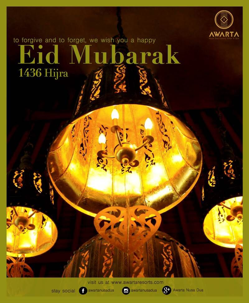 We wish you a wonderful Eid Mubarak! Let\'s forgive and forget ...