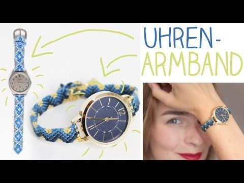 diy uhren armband selber machen upcycling kn pfen knoten alive4fashion youtube armband. Black Bedroom Furniture Sets. Home Design Ideas