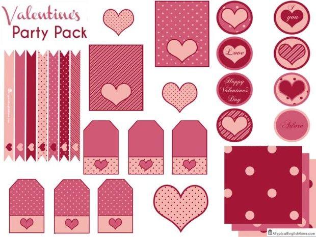 5 Imprimibles gratis para usar en San Valentín