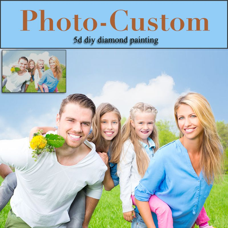 Custom Diamond Painting Cross Stitch Personal Photo Full Drill Friendship Gift