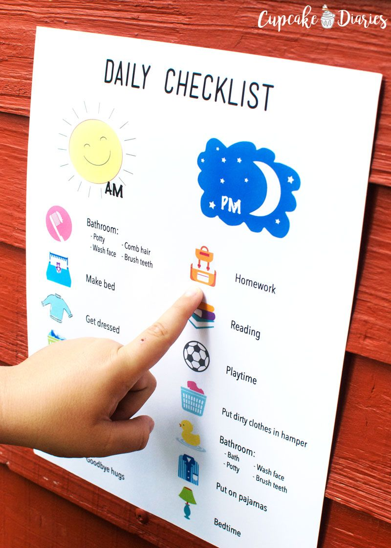 Printable Daily Checklist For Kids  Daily Checklist Ads And Parents