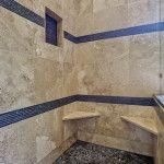 Bathroom Wall Design http://www.DFWImproved.com #BathRemodel