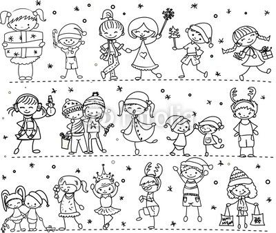 Winter menschen comic - Menschen malen lernen kindergarten ...