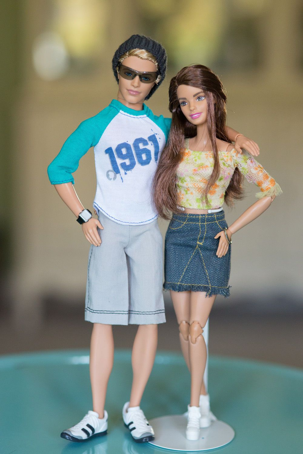 These dolls make such a cute couple! The Ken doll is a hard to