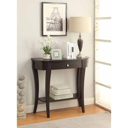 Convenience Concepts Newport Entryway Console Table Multiple Finishes Walmart Com Entryway Console Table Small Entryway Table Small Console Tables