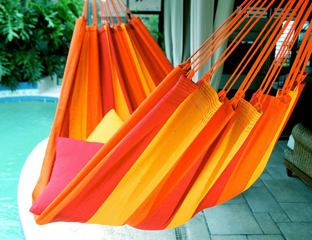 Orange Mix - Fine Cotton Classic Hammock, Made in Brazil