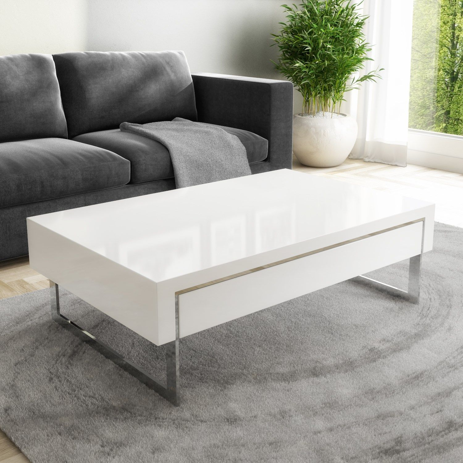 White Gloss Coffee Table With Storage Drawers Evoque Furniture123 Coffee Table With Storage Coffee Table White Furniture Living Room [ 1500 x 1500 Pixel ]