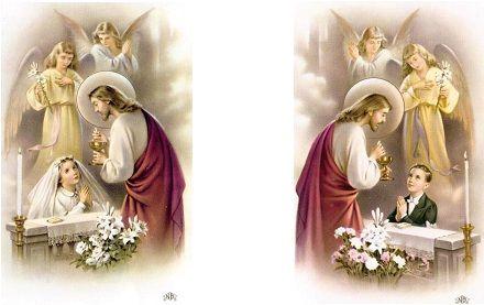 primeira eucaristia menino e menina
