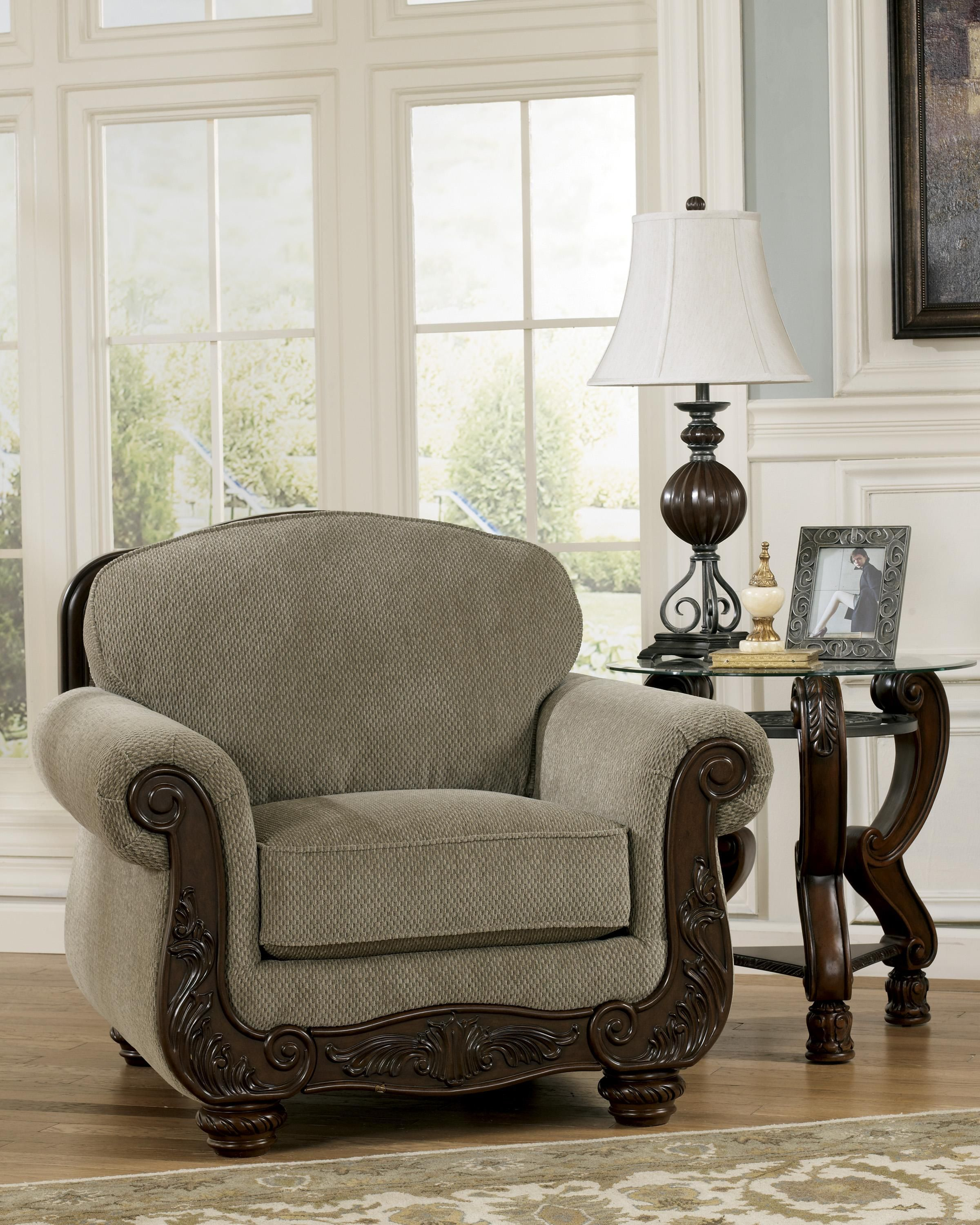 Signature design by ashley furniture martinsburg meadow traditional chair s appliance furniture