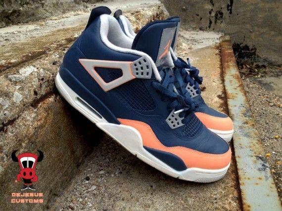 "the best attitude 1e7c5 dab94 Air Jordan IV ""Salmon Toe"" by DeJesus Customs  airjordan  nike  asics   custom  fashion  sneakers  swag  shoes"
