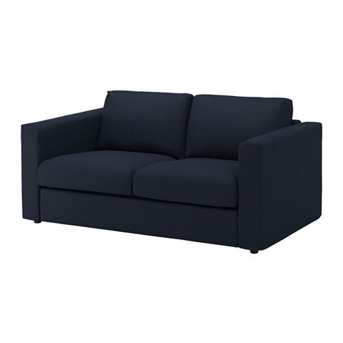 Ikea Vimle 2 Seat Sofa Gräsbo Black Blue