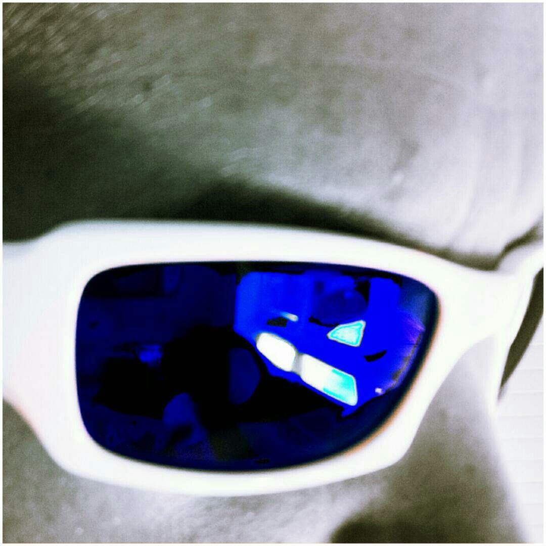eee4e76e24 Oakley Fives Squared. White with Ikon deep blue polarised lenses ...