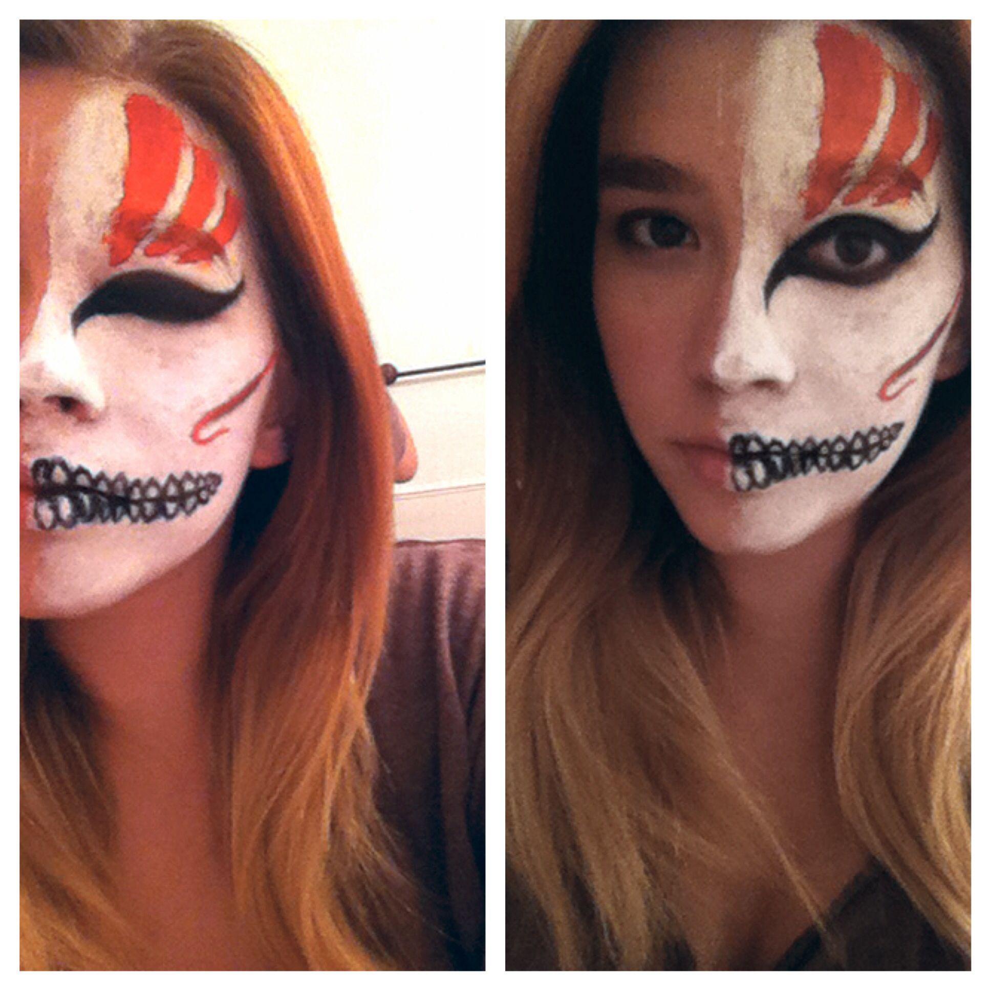 Halloween Makeup Idea Ichigo S Hollow Mask From The Anima Bleach Special Effects Makeup Makeup Face Makeup