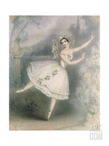 Carlotta Grisi 1819 99 As Giselle Paris C 1841 Giclee Print By Augustus Jules Bouvier At Art Com Ballet History Ballet Art Vintage Ballet