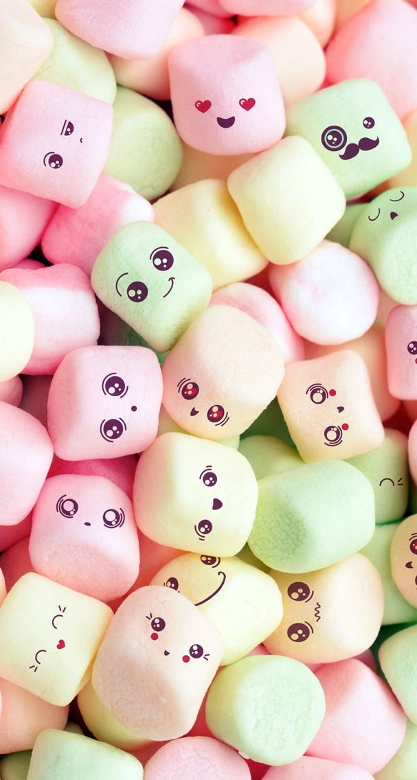 This is so cute this is my background look at there cute - Kawaii food wallpaper ...