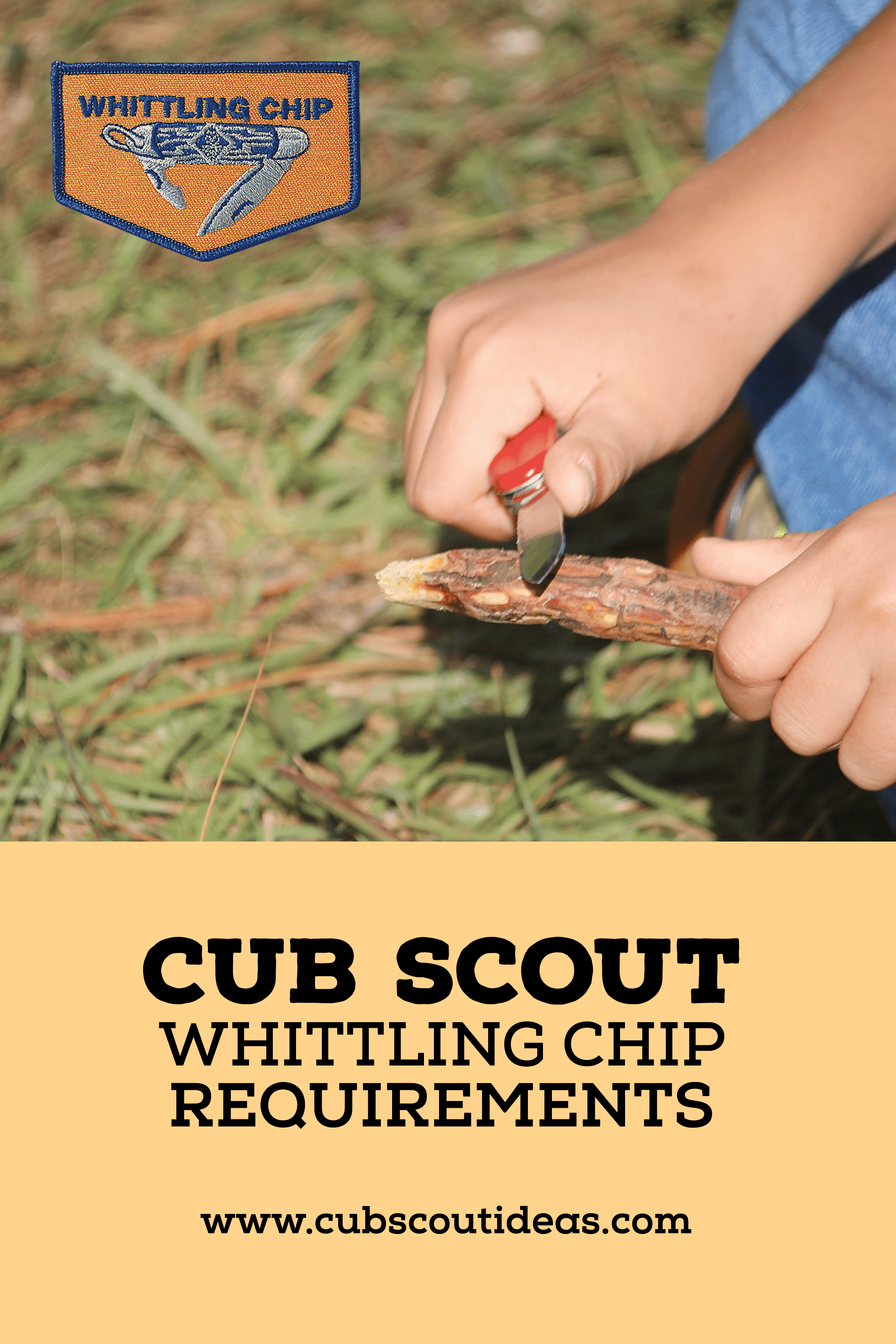 What are the Cub Scout Whittling Chip Requirements?