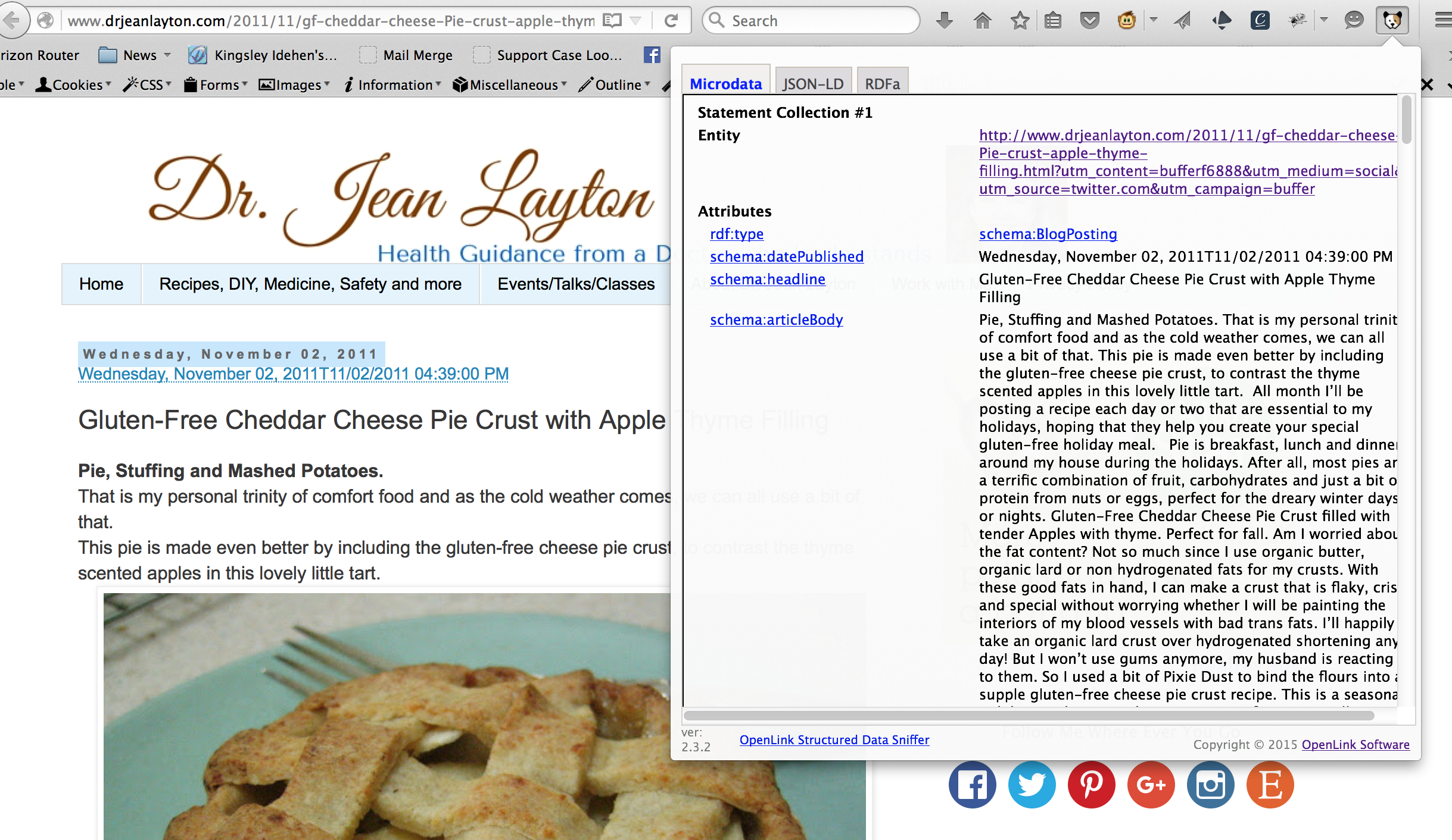 Dr. Jean Layon healthy recipes page that includes HTML5+Microdata based Linked Data using Schema.org terms.  #SchemaOrg #Diet #GlutonFree #HealthyEating #Health #RDF #LinkedData #SemanticWeb #Recipe