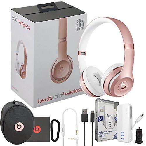 Beats Solo3 Wireless On-Ear Headphones - Rose Gold - W MFI iWalk Lighting ae1baaa8bab9d
